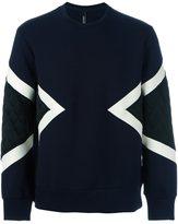 Neil Barrett quilted detail sweatshirt