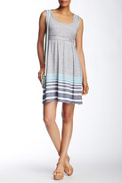 Max Studio Sleeveless Striped Jersey Fit & Flare Dress