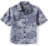 First Wave Little Boys 2T-7 Floral Woven Short-Sleeve Shirt