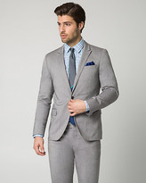 Le Château Two-tone Twill Slim Fit Blazer
