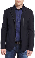 Armani Collezioni Lightweight Water-Resistant Zip Jacket, Navy