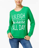 Rebellious One Juniors' Sleigh All Day Graphic Sweatshirt