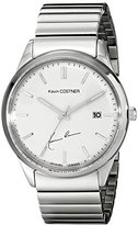 Jacques Lemans Unisex KC-102D Kevin Costner Collection Analog Display Quartz Silver Watch