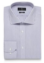 Jeff Banks Designer Lilac Textured Stripe Tailored Shirt
