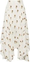 A.L.C. Claudio ruffled printed silk-georgette midi skirt