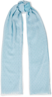 Loro Piana Appliqued Cashmere And Silk-blend Scarf