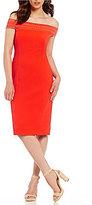 Antonio Melani Layla Stretch Jacquard Off The Shoulder Dress