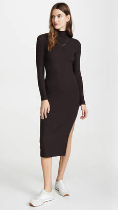 Enza Costa Brushed Rib Raglan Midi Dress