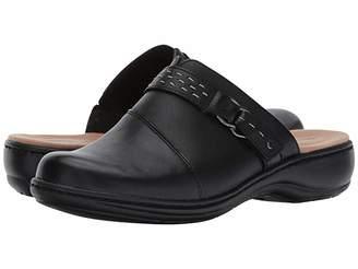 Clarks Leisa Sadie (Black Leather) Women's Clog Shoes