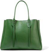 Lanvin The Shopper Small Leather Tote - Green