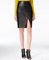 GUESS Jagger Faux-Leather Pencil Skirt