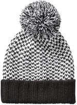 Joe Fresh Women's Knit Pompom Hat, Black (Size O/S)