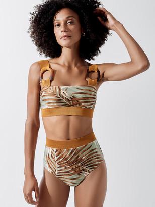 PatBO Palmeira Buckle Bikini Top