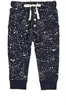 Little Indians Paint-Splatter-Detailed Stretch-Cotton Sweatpants