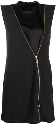 Versace Zip Accent mini dress