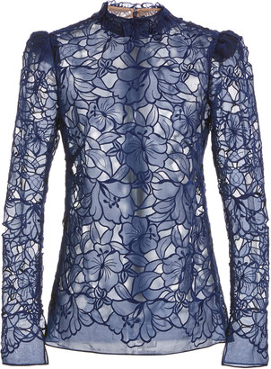 J. Mendel Floral Lace Top