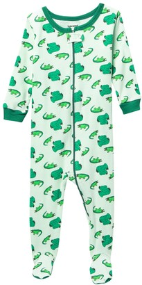 Leveret Croc Footed Pajama Sleeper (Baby Boys & Toddler)
