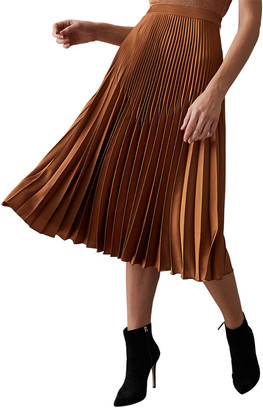 Reiss Isidora Pleat Midi Skirt