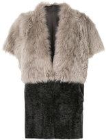 Eleventy panelled shortsleeved coat