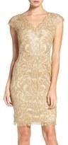 Tadashi Shoji Corded Lace Tulle Sheath Dress (Regular & Petite)