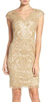 Tadashi Shoji Women's Corded Lace Tulle Sheath Dress