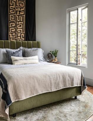 Lulu And GeorgiaLulu & Georgia Aliyah Velvet Bed, Pine