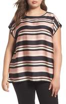 Vince Camuto Plus Size Women's Modern Chords Mixed Media Top