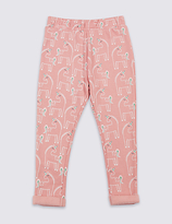 Marks and Spencer Cotton Rich All Over Print Joggers (3 Months - 5 Years)