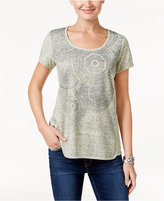 Style&Co. Style & Co Medallion-Print T-Shirt, Only at Macy's