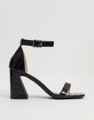 Raid Daisie feature heel sandals in black croc