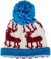 San Diego Hat Company Blue Deer Pom-Pom Beanie