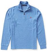Polo Ralph Lauren Cotton-Blend Mock Neck Half-Zip Pullover