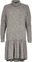 River Island Womens Grey turtleneck smock dress