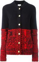 Maison Margiela colour block knitted cardigan - women - Cotton - M