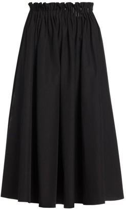 Marni Paperbag Cotton Poplin Midi Skirt