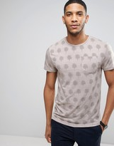 Bellfield T-Shirt In Palm Print With Pocket