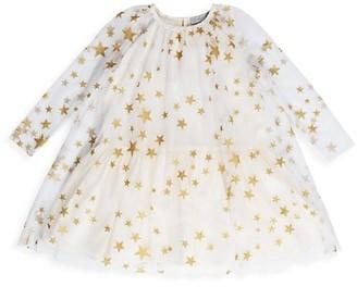 Stella McCartney Kids Little Girl's & Girl's Metallic Star Print Dress