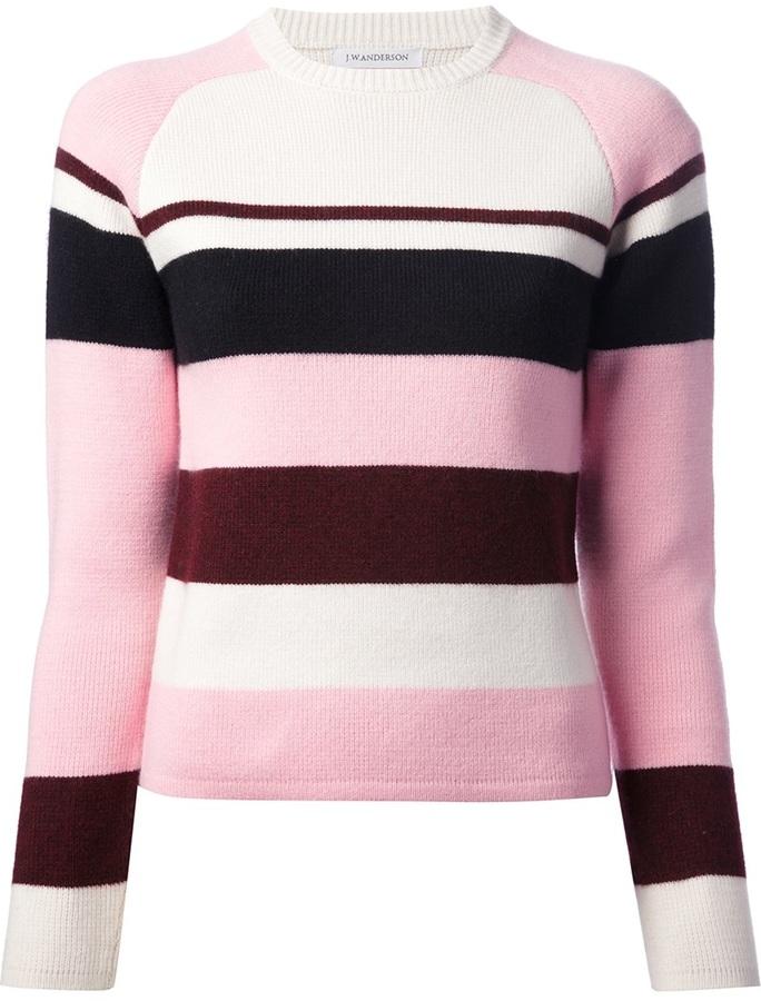 J.W.Anderson cashmere stripe raglan sweater