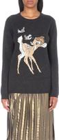 Markus Lupfer Bambi-embellished merino-wool jumper