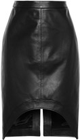 Givenchy Black Leather Pencil Skirt