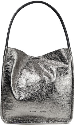 Proenza Schouler Metallic Cracked-leather Tote