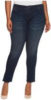 KUT from the Kloth Plus Size Catherine Boyfriend Five-Pocket in Carefulness/Euro Base Wash Women's Jeans