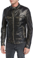 Belstaff Landrake 2.0 Calfskin Leather Biker Jacket, Black