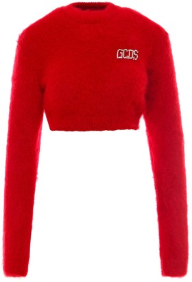 GCDS Embellished Logo Cropped Jumper