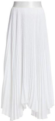 Alice + Olivia Katz Textured Pleated Midi Skirt