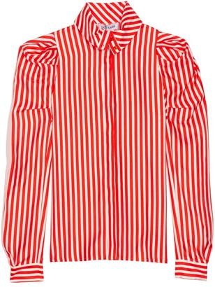 Dice Kayek Striped Silk Shirt in Red Stripe