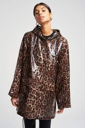 Pam & Gela Clear Leopard Raincoat