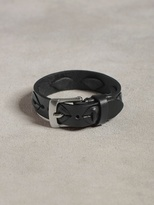 John Varvatos Leather Cuff W/Lace Detail