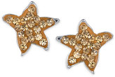 Unwritten Pavé Crystal Starfish Stud Earrings in Sterling Silver