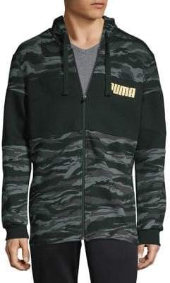 Puma Logo Camouflage Hooded Jacket